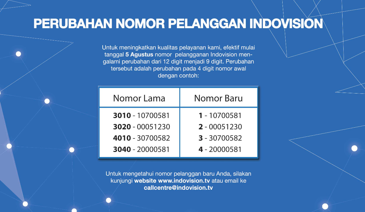 banner informasi nomor pelanggan baru