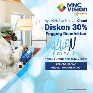 Aman & Nyaman di Rumah dengan Diskon 30% Fogging Disinfektan Klik' N Clean